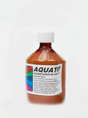 AQUATOP - Transparent lak, svilnat sijaj      500 ml