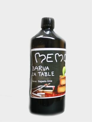memo barva za table sajasto rna 1000 ml. Black Bedroom Furniture Sets. Home Design Ideas