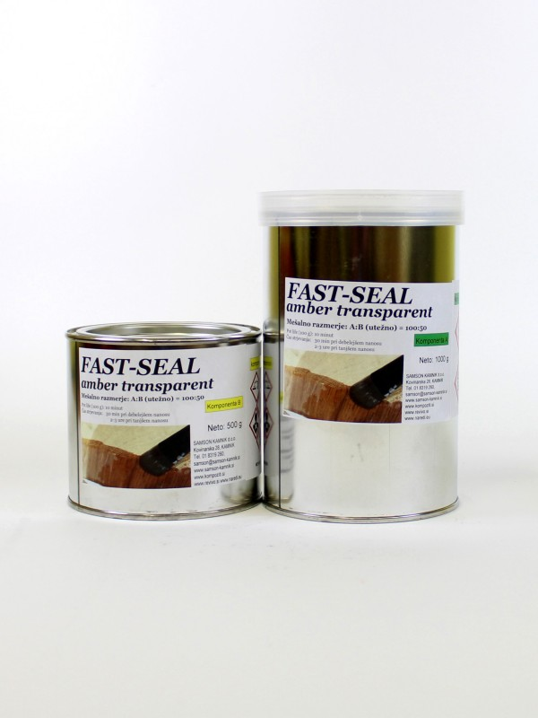 FAST SEAL amber transparent       1000 + 500 g
